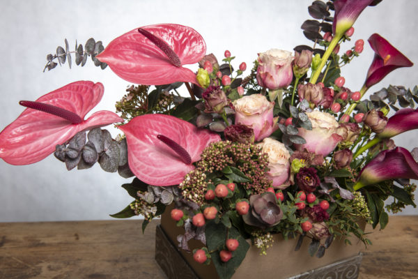 Champagne Pinks boxed Blooms 3