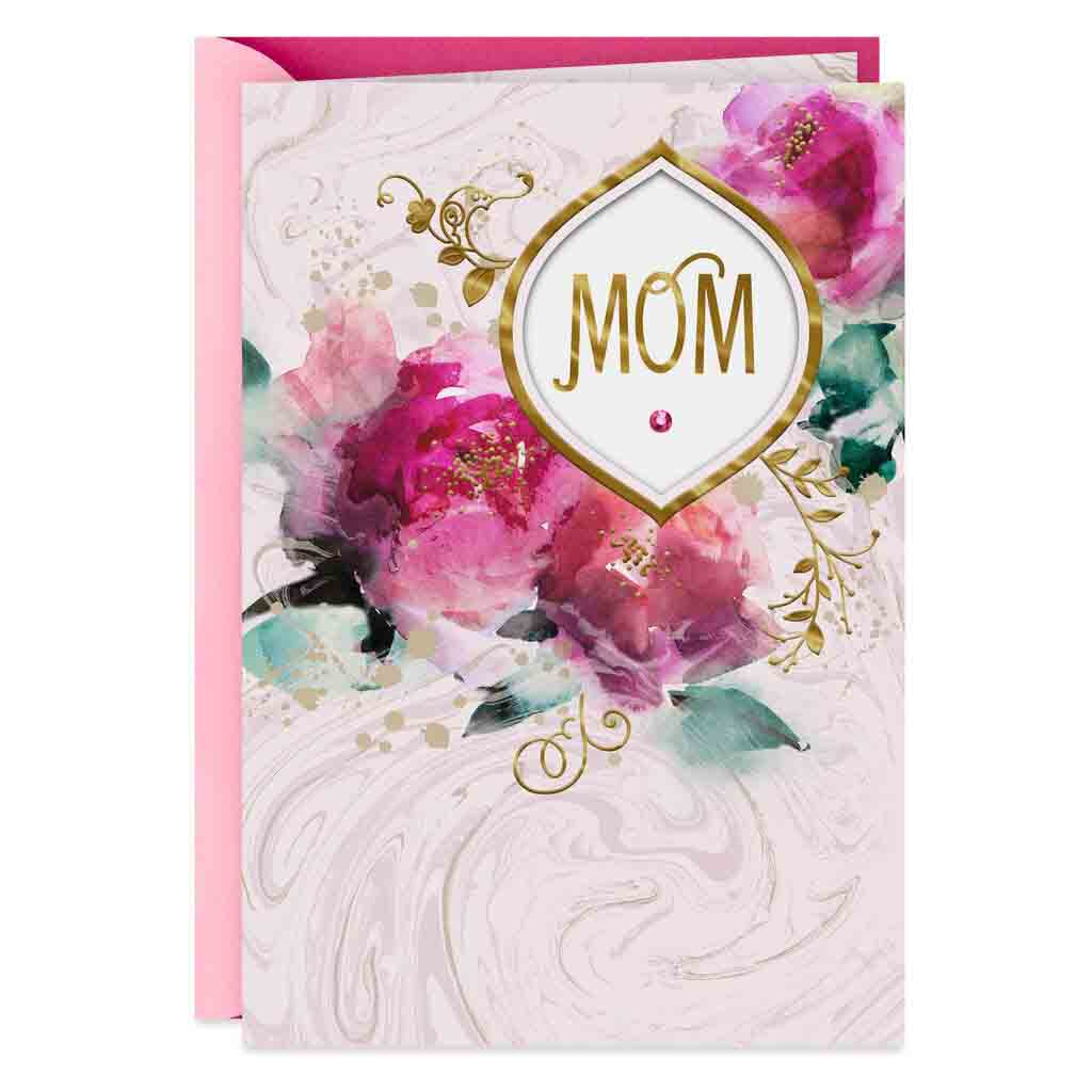 Cool Happy Birthday Mom Greeting Card Alistair Floral Design Personalised Birthday Cards Veneteletsinfo