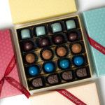 Multi coloured box of pralines